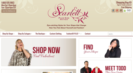 Scarlett Plus Boutique - Ecommerce